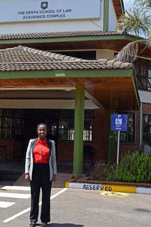 Vivian at Kenya School of Law